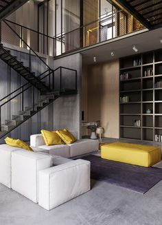 Industrial decor is interior decor that combines vintage design with modern design to create an aesthetic room within a house. Get inspiration here for. Loft Interior, Industrial Interior Design, Industrial House, Industrial Interiors, Home Interior Design, Interior Architecture, Industrial Style, Industrial Bedroom, Modern Interiors