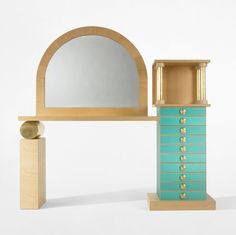 Ettore Sottsass custom console  Renzo Brugola  This would look great in my bedroom...
