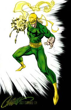 Iron Fist by marcandredaoust on Dc Comics Superheroes, Arte Dc Comics, Marvel Comics Art, Marvel Comic Universe, Marvel Heroes, Anime Comics, Psylocke, Marvel Comic Character, Marvel Characters