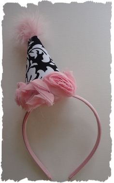 Party Hat Headband..I don't have a little girl, but this is oh so cute!