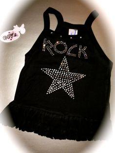 Boutique Rock Star rhinestone Shirt. Toddler by MOZtrendMOMMAandME, $13.95