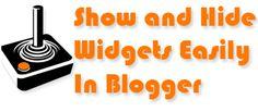 Cara Memunculkan dan Menyembunyikan Widget di Blogger