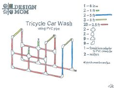Tricycle Car Wash Plan - Design Mom... And Sprout and I know how we are spending our days together now!