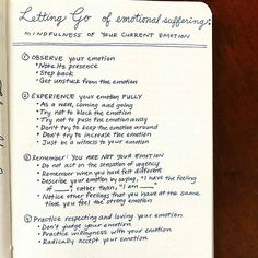 Letting Go of Emotional Suffering. .This seems like a valuable page for our bujos.. The Sunday Self-Care/Mental Health spread courtesy of @mentalhealthbujo (emotionalhealth)