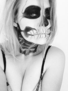 #makeup #haloween #me  Make-up by me :)