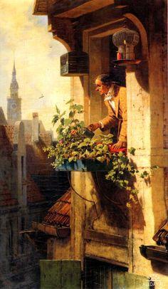 Carl Spitzweg peintre Allemand, 19ème siècle peinture de genre, les artistes allemands, Romantisme