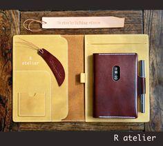 iPad Mini Leather Portfolio Case | A5 Notepad Portfolio | Matte Yellow
