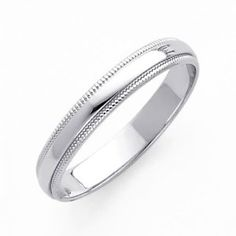 I want a nice white gold or rose gold band that I can wear everyday. this is perfect! Classic Wedding Rings, Titanium Wedding Rings, Wedding Rings Simple, Wedding Rings Rose Gold, Wedding Rings Vintage, Wedding Rings For Women, Wedding Ring Bands, Wedding Jewelry, Rings For Men