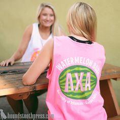 Kappa Delta Watermelon Bust T-Shirt | #LoveTheLab houndstoothpress.com | Kappa Delta Shirts | KD TShirts | Sorority T-Shirts | Classic Sorority T-Shirts | Custom Greek TShirts | Greek Life | Custom Greek Apparel | Sorority Clothes | Comfort Colors Tank | Sorority T-Shirt Ideas | Custom Designs | Custom TShirts |Sorority Spring Break | Custom Screen printed shirts | Custom Greek Screenprinting |Custom Printed Sorority TShirts | Custom Printed T-Shirts | Kappa Delta Shirts, Kappa Delta Sorority, Delta Zeta, Custom Screen Printing, Screen Printing Shirts, Printed Shirts, Sisters Forever, Custom Greek Apparel, Sorority Outfits