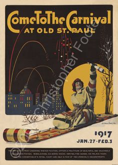 St. Paul Winter Carnival 2014 | Come to the Saint Paul Winter Carnival | Minnesota Posters — Vintage ...