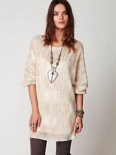 Free People Spacedye Sweater Dress at Free People Clothing Boutique - StyleSays
