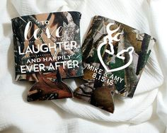 Love Laughter Happily Ever After Wedding Favors Camo Wedding Gift Buck and Doe Wedding Favor Deer Heads Wedding Favors Camo Favors 1246 by SipHipHooray