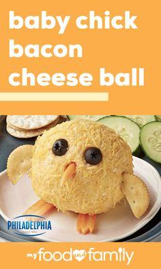 Baby Chick Bacon Cheese Ball Your spring party deserves an appetizer worthy of the occasion li Baby Chick Bacon Cheese Ball Your spring party deserves an appetizer worthy of the occasion li My Food and Family nbsp hellip Cheese Ball Cream Cheese Dips, Soften Cream Cheese, Cheddar Cheese, Cheese Ball Recipes, Bacon Recipes, Cheese Appetizers, Appetizer Dips, Philadelphia Recipes, Creative Desserts