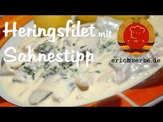 Heringsfilet mit Sahnestipp (von:erichserbe.de) - Essen in der DDR: Koch- und Backrezepte für ostdeutsche Gerichte | Erichs kulinarisches Erbe