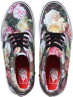 "vans x supreme x new order ""power corruption & lies"" = i die forever Vans X, Vans Shoes, Vans Footwear, Vans Sneakers, Summer Sneakers, Summer Shoes, Supreme, Floral Vans, Floral Pumps"