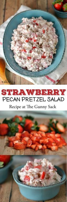 Strawberry Pecan Pretzel Salad is a MUST at all of our holiday celebrations. Try sharing this recipe at your Easter dinner!This Strawberry Pecan Pretzel Salad is a MUST at all of our holiday celebrations. Try sharing this recipe at your Easter dinner! Fruit Recipes, Salad Recipes, Cooking Recipes, Dessert Recipes, Quick Dessert, Cooking Tips, Easter Recipes, Dinner Recipes, Sauces