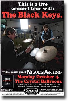 Black Keys Poster - Concert Promo flyer Brothers Tour  http://concertposter.org/black-keys-poster-concert-promo-flyer-brothers-tour/