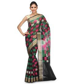 Loved it: Bunkar Black Cotton Banarasi Saree With Blouse Piece, http://www.snapdeal.com/product/bunkar-black-cotton-banarasi-saree/672944767612
