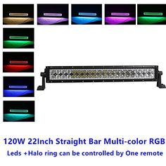 Offroad Led light bar RGB halo ring Car Truck 4x4 pick up Jeep