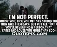 Elegant Quote About Not Being Perfect In A Relationship Mesgulsinyali