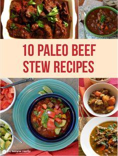10 of the Best Paleo Beef Stew Recipes Paleo Food List, Best Paleo Recipes, Primal Recipes, Meat Recipes, Cooking Recipes, Group Recipes, Chilli Recipes, Paleo Meals, Kitchen Recipes