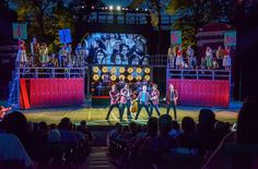 Grease. The MUNY. Scenic design by Tim Mackabee. Lighting by Nathan W. Scheuer. 2014
