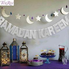 Fengri Eid Mubarak Kareem Balloon Glitter Gold Banner Eid For Islamic Party Decorations - Best Home & Party Decoration Ideas Eid Ramadan, Muslim Ramadan, Mubarak Ramadan, Ramadan Crafts, Eid Mubarak Banner, Hajj Mubarak, Eid Mubark, Eid Crafts, Diy Eid Decorations