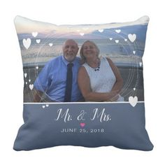 Mr & Mrs Keepsake Wedding Pillow - decor gifts diy home & living cyo giftidea