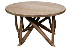 """Amber Coffee Table One Kings Lane for $449  Made of:     bayur/dolken wood Size:     31.5""""W x 31.5""""D x 17.5""""H"""