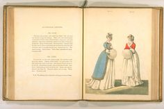 Digital Archive of Rare Materials English Fashion, Digital Archives, Little White Dresses, Fashion Books, Hand Coloring, Regency, 18th Century, Inspire, Dreams