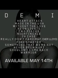 DEMI tracklist...YES! Demi is collaborating with Cher Lloyd! <3