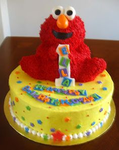 Elmo Cake Pan Decorating Instructions