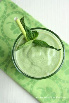 Paleo Shamrock Shake Smoothie.  I would use whey protein instead if coconut milk