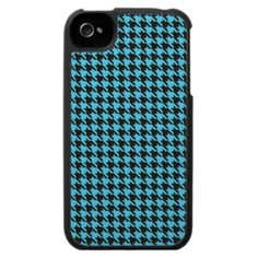 Blue Houndstooth iPhone4 4/s Case