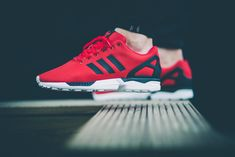 sweetsoles: Adidas ZX Flux Poppy Red Buy from Jimmy Jazz