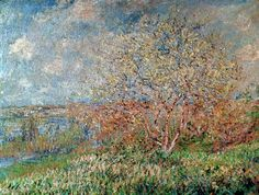 digitaler Kunstdruck, individuelle Kunstkarte: Claude Monet, Spring, 1880-82
