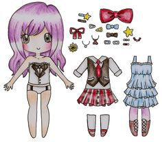 Merry Christmas Anjuu! by Bee-chii1500 free paper dolls international artist and writer Arielle Gabriel's The International Paper Doll Society free paper dolls for Pinterest pals *