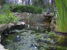 Un jardín con elementos reciclados