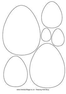 Easter egg template (different sizes)
