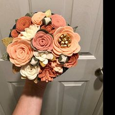 Amy Rose Adams added a photo of their purchase Winter Flowers, Felt Flowers, Fabric Flowers, Amy Rose, Wool Felt Fabric, Colorful Birthday Party, Felt Succulents, Coral, Felt Garland