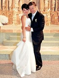 Alec Baldwin & Hilaria Thomas #celebstylewed #celebrity #famous #weddings