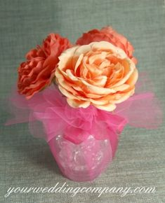 """Use 15"""" wide scalloped-edge tulle circles to create beautiful take-home favors and centerpieces.  Use at the following events:  ♢ Wedding ♢ Bridal Shower ♢ Baby Shower ♢ Anniversary ♢ Birthday Party ♢ Quinceañera ♢ Sweet 16 ♢ Easter ♢ Valentine's Day ♢ Christening / Baptism ♢ Corporate Event  www.yourweddingcompany.com"""