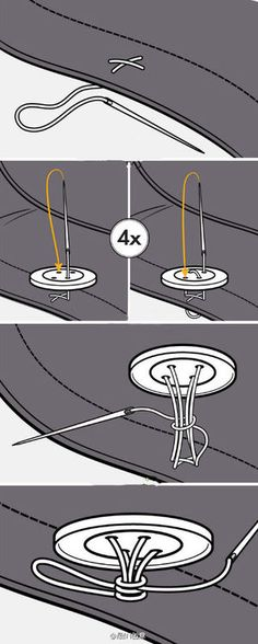how to sew on a button. now you know