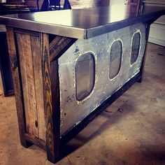 An airplane bar!! :: Contact us at create@legacybuilding.org and we can start dreaming up your next handcrafted Legacy piece!