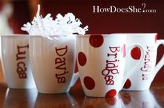 Decorating Dollar Store Mugs.