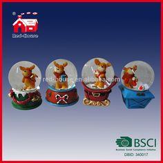 Decorative Unique Custom Handmade Snow Globes Christmas Deer Inside Home Decoration Globe