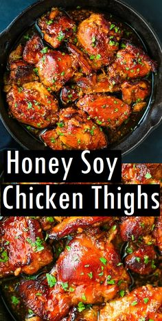 chicken dessert recipes thighs honey cake soy Honey Soy Chicken Thighs Dessert Cake RecipesYou can find Chicken thigh recipes and more on our website Honey Soy Chicken Thighs, Easy Honey Garlic Chicken, Crockpot Chicken Thighs, Honey Garlic Sauce, Garlic Chicken Recipes, Healthy Chicken Thigh Recipes, Honey Soy Chicken Marinade, Marinade For Chicken Thighs, Chicken Thighs Slow Cooker Recipes