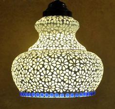 Indian Home Decorative Mosaic Glass Jaipuri Ceiling Hanging Lamp Christmas Gift #Lalhaveli #ArtsCraftsMissionStyle