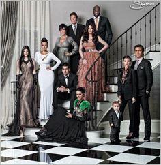 Kardashian Family Photo Shoot | Kardashian Family 2010 Christmas Card Photo Shoot - Bitten and Bound