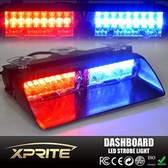 Led Strobe Lights For Trucks Magnificent 48 Led Visor Strobe Lights Bar With Screen Contoller  Light Review